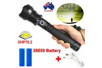 Most Powerful XHP70.2 110000LM Tactical 3 Mode Zoom Flashlight LED Hunting Torch