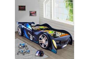 McLaren Blue for Kids Racing Racer Night Car Bed Single Size