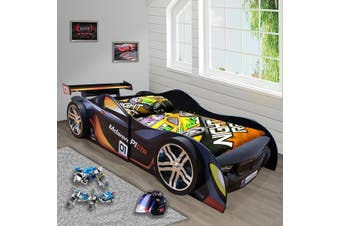 McLaren Black for Kids Racing Racer Night Car Bed Single Size