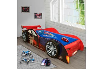 Spider Man Special Edition for Kids Racing Racer Night Car Bed Single Size
