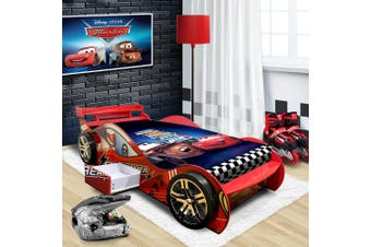 """Dreamer"" Children Toddler Kids Racing Racer Car Bed For Boy Boys in Red"
