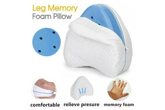 Memory Foam Leg Pillow Cushion Knee Support Pain Relief Washable Cover AUBO