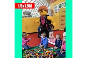 Green Colour---Kids Play Mat Bag Portable Toy Storage Organizer XL 150cm Lego Toys BrikBag