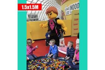 Navy Blue Colour---Kids Play Mat Bag Portable Toy Storage Organizer XL 150cm Lego Toys BrikBag