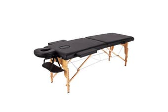 Portable Wooden/Aluminium Massage Table 2 Fold Beauty Therapy Bed Chair Waxing