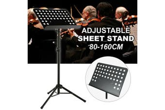 Adjustable Stage Stand Heavy Duty Large Metal Music Sheet Conductor Folding AU (Black)