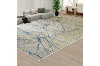 OliandOla Floor Area Abstract Rug Modern Large Carpet Bosco Blue Grey(300cm x 200cm)