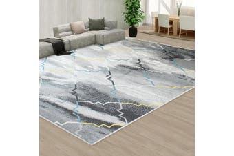 OliandOla Black Grey Color Pattern Floor Area Abstract Rug Modern Large Carpet