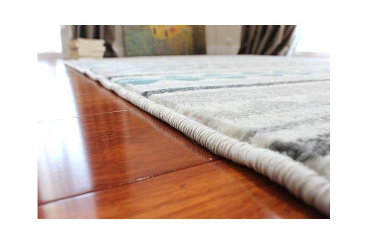 OliandOla Blue Black Grey Color Pattern Floor Area Abstract Rug Modern Large Carpet(90cm x 60cm, Door Mat)