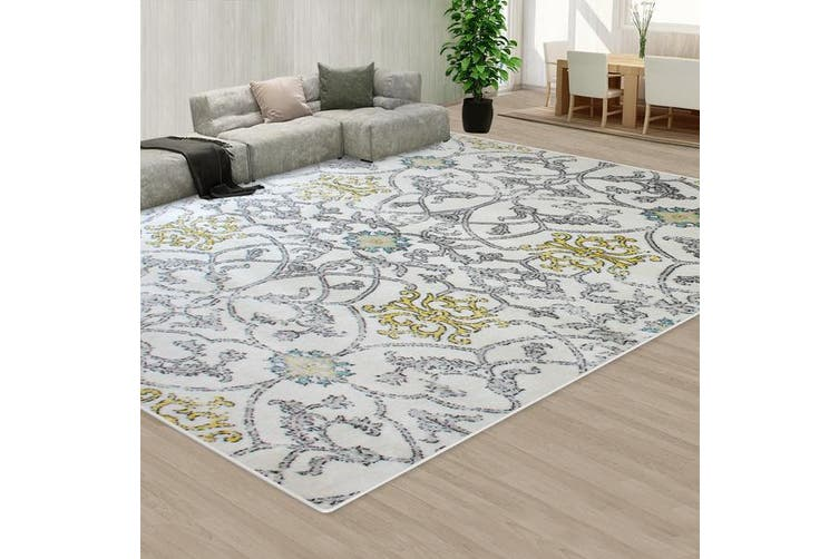 OliandOla Grey Creamy Color Pattern Floor Area Abstract Rug Modern Large Carpet(90cm x 60cm, Door Mat)