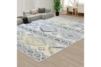 OliandOla Grey Creamy Style Pattern Floor Area Abstract Rug Modern Extra Large Carpet