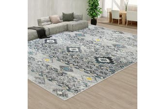 OliandOla Grey Style Pattern Floor Area Abstract Rug Modern Large Carpet(300cm x 200cm)