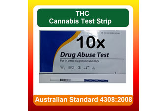 10 x THC Urine Drug Test Kit Screen Strips for (Marijuana) Cannabis