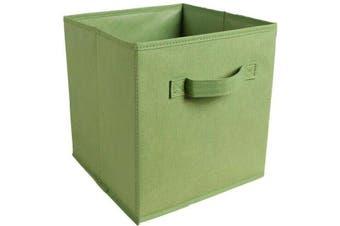 Foldable Folding Storage Cube Storage Box Bookcase Fabric Cube Toy Organiser(Small_Green)