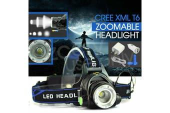 RECHARGEABLE HEADLAMP 100000LM 3T6 XML LED HEADLIGHT HEAD TORCH FLASHLIGHT 2020