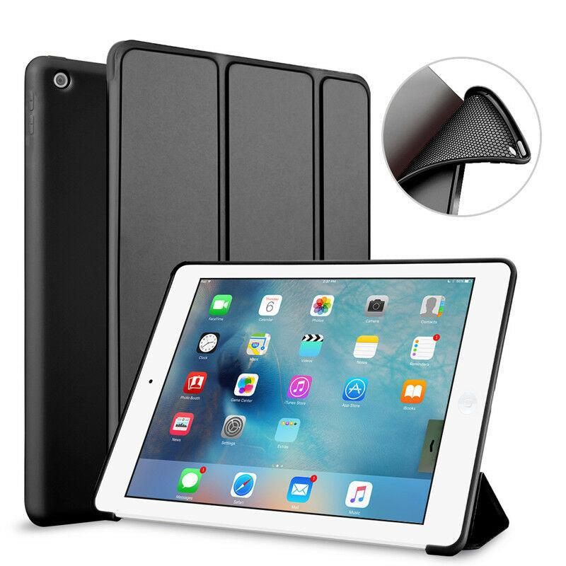 iPad Case Shockproof Smart Cover Stand For iPad 8th Generation Black Shockproof