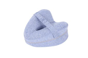 Memory Foam Leg Knee Support Pillow Orthopedic Firm Pain Relief Washable Cover(Blue)