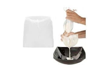 Reusable Nut Nylon Mesh Filter Bag Tea Milk Fruit Juice Fish Tank Net Strainer(M30x45cm)