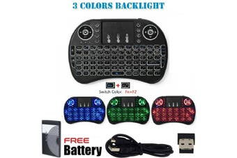 Wireless Mini Keyboard 2.4G with Backlit Touchpad PC Android TV Media Box