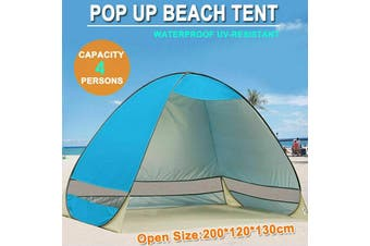 Pop Up Beach Tent Canopy UV Camping Fishing Mesh Sun Shade Shelter 4 Persons
