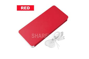 50000mAh External Power Bank Dual USB Portable Battery Charger For Mobile Phone(Red)