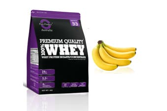 1KG - WHEY PROTEIN ISOLATE / CONCENTRATE - WPI WPC POWDER- Choose Flavour(Banana)