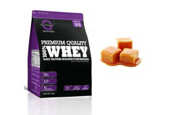 1KG - WHEY PROTEIN ISOLATE / CONCENTRATE - WPI WPC POWDER- Choose Flavour(Caramel)