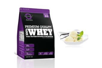 1KG - WHEY PROTEIN ISOLATE / CONCENTRATE - WPI WPC POWDER- Choose Flavour(Vanilla)