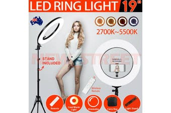 "19"" 5500K Dimmable Diva LED Ring Light Diffuser With Stand"
