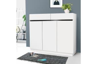 OliandOla NEW White High Gloss Shoe Cabinet Rack Storage Organiser -3 Door 100cm