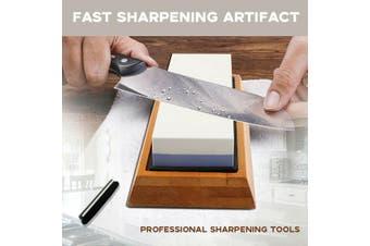 Dual Whetstone Waterstone Knife Sharpening Water Wet Stone Sharpener 6000/1000