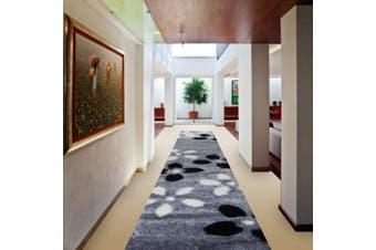 OliandOla Soft Shag Shaggy Rug Hallway Runner in Flower Pattern(80 x 400 cm)