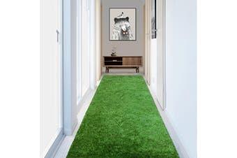 OLiandOla Soft Hallway Runner Shaggy Rug in Green(80 x 400 cm)