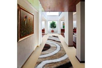 OliandOla Soft Shag Shaggy Rug Hallway Runner in Sun Pattern(80 x 400 cm)