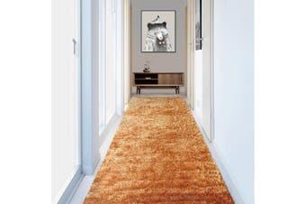 OLiandOla Soft Hallway Runner Shaggy Rug in Dark Champagne(80 x 500 cm)