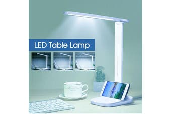 Touch LED Desk Lamp Bedside Study Reading Table Light USB Ports Dimmable AU (White And Warm)