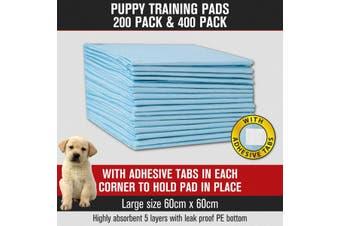 Puppy Pet Dog Cat Training Pads Absorbent Indoor Toilet 400pk 60 x 60cm