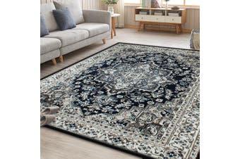 OliandOla Blue Arya Classic Vita Vintage-Style Floor Area Traditional Soft Rug Carpet(120cm x 80cm, Door Mat)