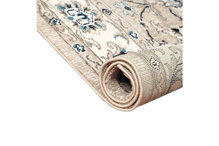 OliandOla Grey Cream Persian Style Floor Area Traditional Soft Rug Carpet(185cm x 185cm)