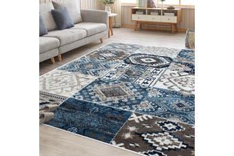 OliandOla Blue Cream Multi Vita Vintage-Style Floor Area Traditional Soft Rug Carpet