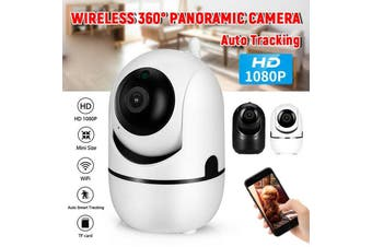 1080P WiFi IP Security Camera Wireless Indoor CCTV System Home Baby Pet Monitor(BLACK)