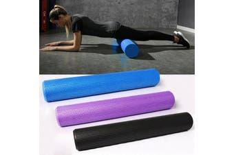 Pilates Foam Roller Long Physio Yoga Fitness GYM Exercise Training ( Black / 60x15cm )