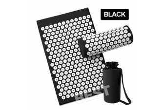 Yoga Massage Acupressure Mat Shakti Sit Lying Mats Pain Stress Soreness Relax AU (Black)