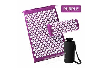 Yoga Massage Acupressure Mat Shakti Sit Lying Mats Pain Stress Soreness Relax AU (Purple)