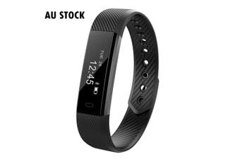 Fitness Smart Black Watch With Heart Rate Monitor