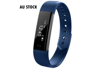 Fitness Smart Blue Watch With Heart Rate Monitor