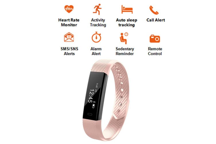 Fitness Smart Pink Watch With Heart Rate Monitor