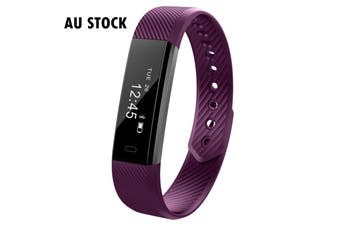 Fitness Smart Purple Watch With Heart Rate Monitor