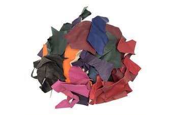 500grams of Assorted Leather Scraps Ideal For Remnants, Crafts, Jewellery Making, Embroidery, Sewing.