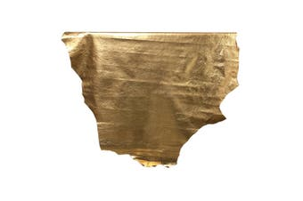 7sqft - 7.9sqft AAA Top Grade Metallic Gold Texas Finish Nappa Lambskin Leather Hide